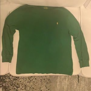 Boys polo long sleeve t-shirt.